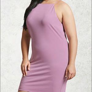 Forever 21 Lavender High-Neck Mini Dress